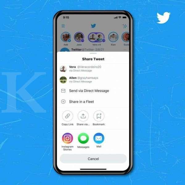 Twitter share postingan ke story Instagram
