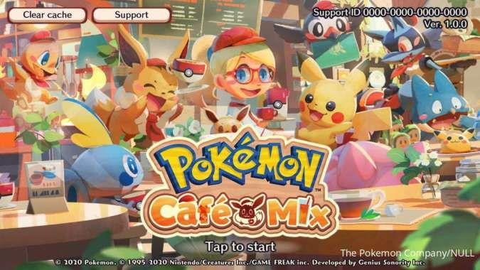 Game android bertema anime - Pokemon Cafe Mix