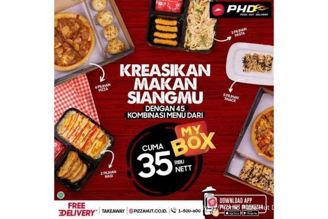 Pizza Hut Delivery hari ini 26 Juli 2021, paket My Box Rp 35.000