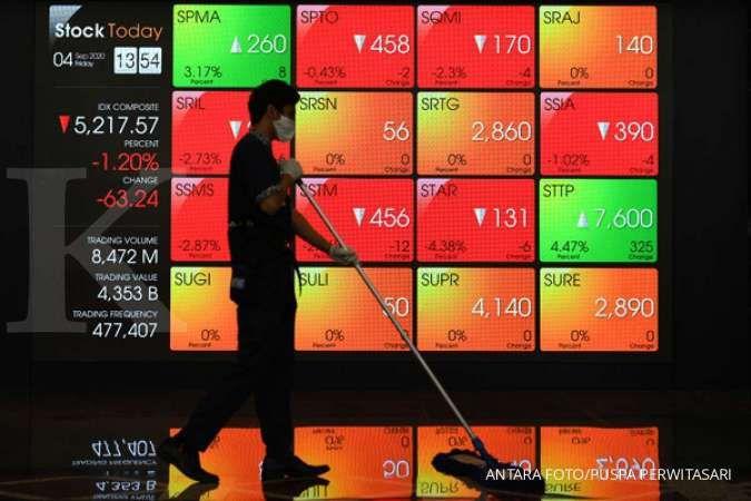 Harga saham BBCA hijau, BBRI justru merah pada perdagangan bursa Kamis (14/10)