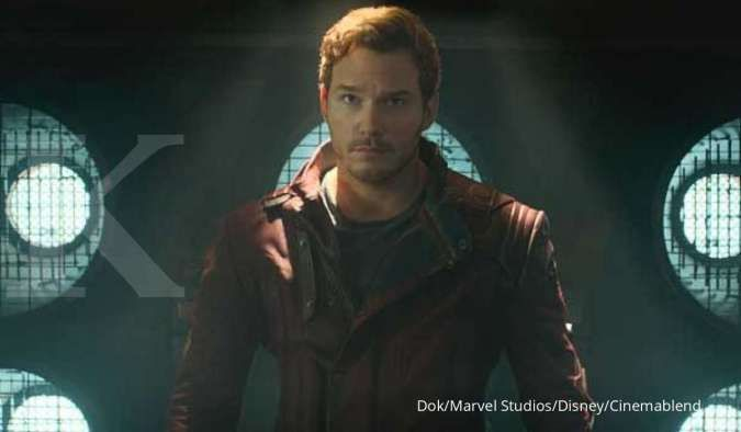 Chris Pratt di film Guardians of The Galaxy dari Marvel Studios.