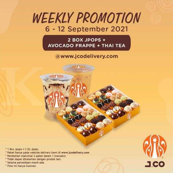 Promo J.CO mingguan 6-12 September 2021