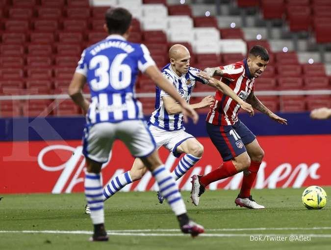 Hasil laga Atletico Madrid vs Sociedad di La Liga Spanyol
