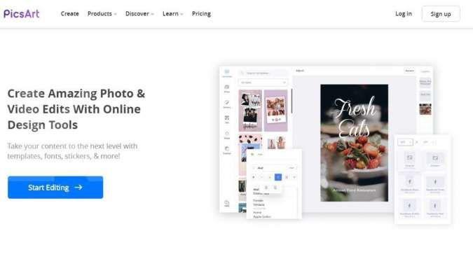 Aplikasi edit foto PicsArt sudah bisa diakses lewat web, ini dia linknya