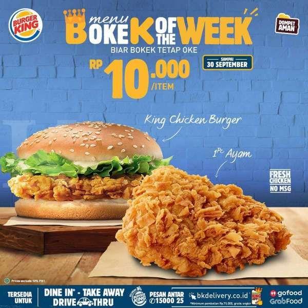 Promo Burger King periode 18-30 September 2020, kulineran ...