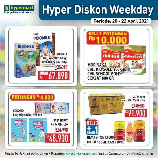 Terbaru! Promo Hypermart weekday 20-22 April 2021, Hyper Diskon