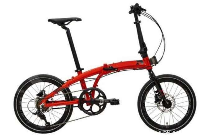 Diskon besar! Harga sepeda lipat Element Ecosmo 8SP Red ringan di kantong