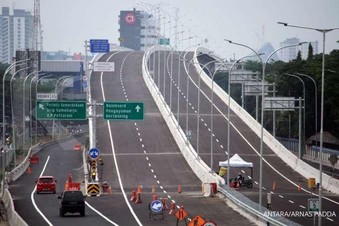 Jalan Tol Layang A.P. Pettarani Makassar diresmikan dan siap beroperasi