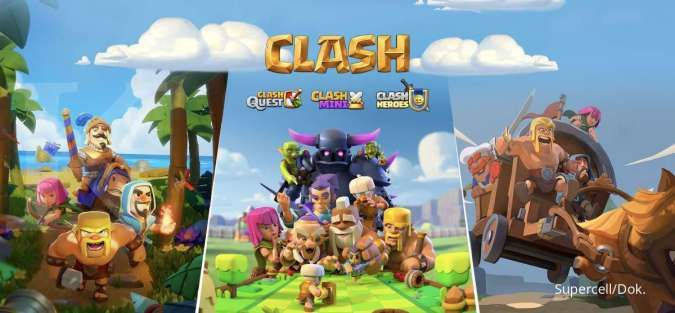 Tiga game baru adaptasi dari semesta Clash of Clans