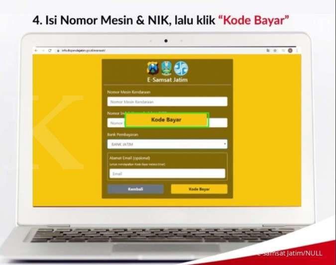 Cara bayar pajak kendaraan online Jatim bisa melalui e-samsat Jatim