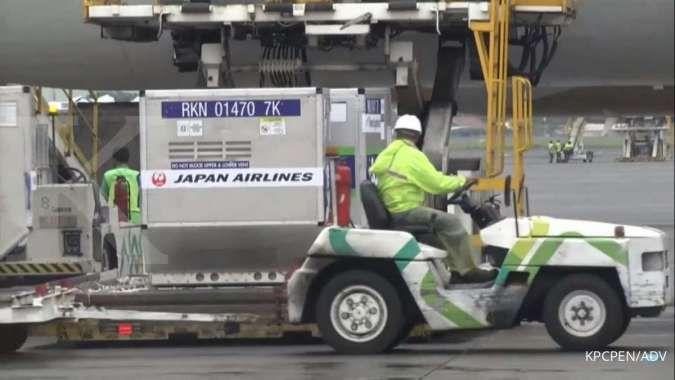 Indonesia Kedatangan 998 Ribu Dosis Vaksin Bantuan Pemerintah Jepang