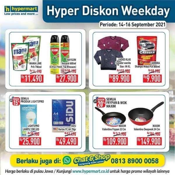 Promo Hypermat Hyper Diskon Weekday 14-16 September 2021
