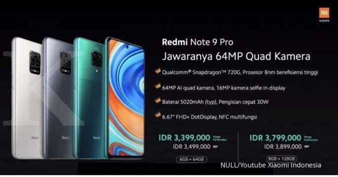 Harga Xiaomi Redmi Note 9 Pro mulai turun, ada diskon sampai Rp 100.000