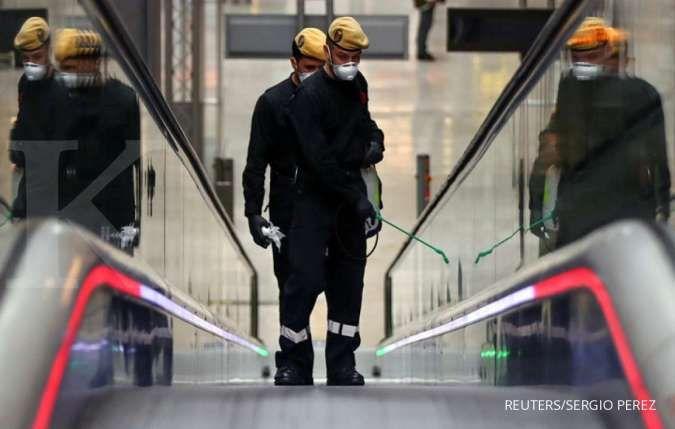 Bak kota mati, arena skating di Madrid berubah menjadi kamar mayat darurat