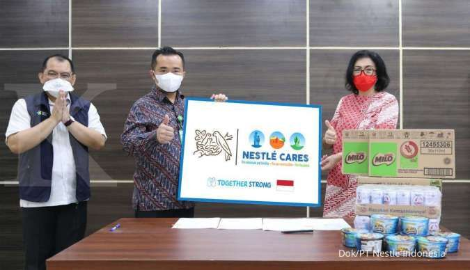 Nestlé salurkan 45.402 makanan minuman dan alat kesehatan ke RSDC Wisma Haji