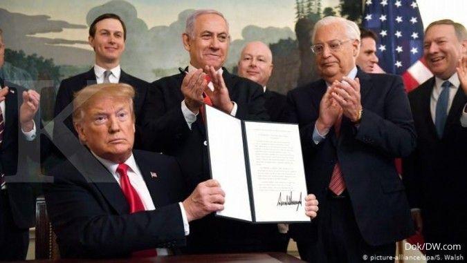 Trump Akui Kedaulatan Israel Atas Golan, Perang Roket Israel-Hamas