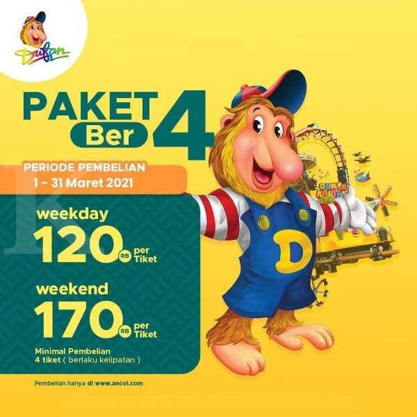 Promo tiket masuk Dufan 1-31 Maret 2021