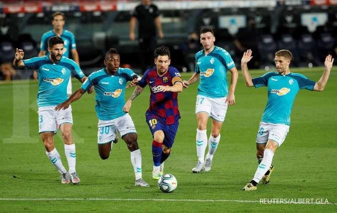 Messi segera bicara tentang masa depannya di Barcelona dan hubungan dengan City./Albert Gea