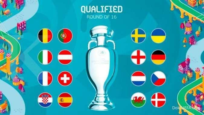 Tim yang Lolos 16 besar Euro 2020