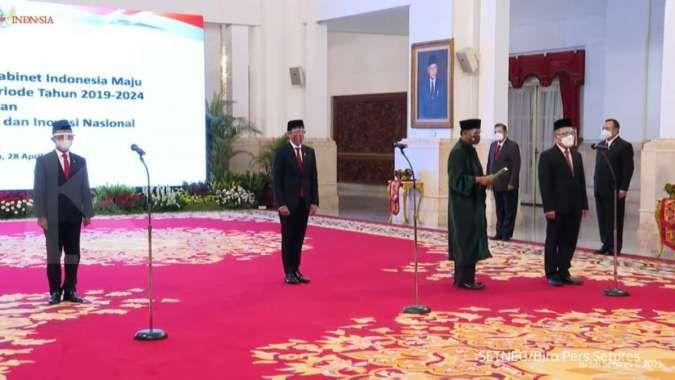 Jokowi melantik Menteri Investasi/Kepala BKPM, Mendikbudristek, dan Kepala BRIN