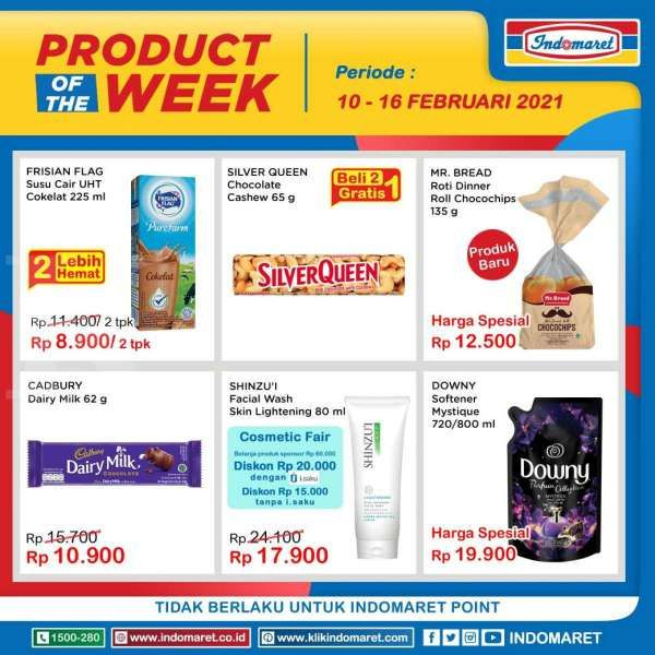 Promo Indomaret Product of The Week 10-16 Februari 2021