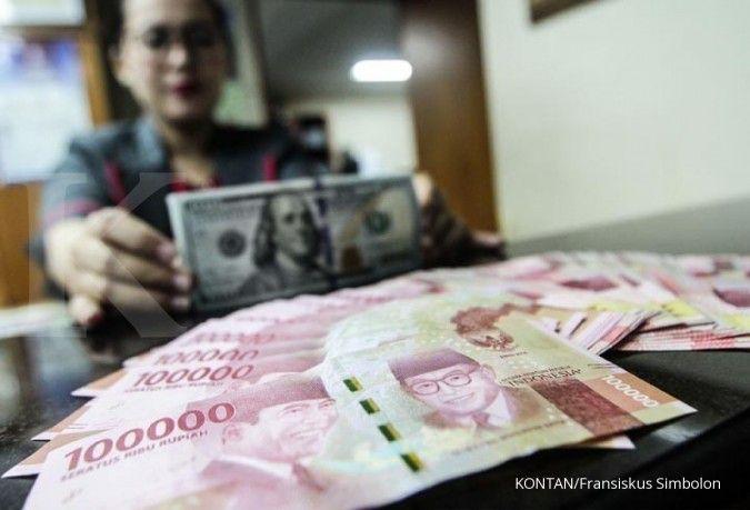 Satu jam sebelum penutupan, rupiah bertahan di level Rp 14.900 per dolar AS