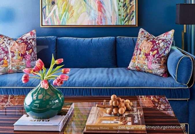Inspirasi Ruang Keluarga Warna Biru yang Kalem dan Simpel