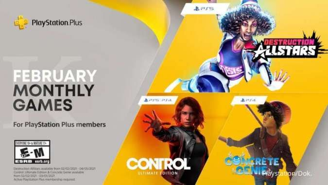 Menang banyak, member PS Plus di Februari 2021 bisa mainkan 5 game ini gratis