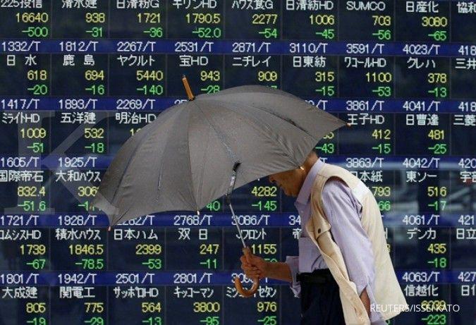 Pertama kali dalam 3 hari, bursa Jepang memerah