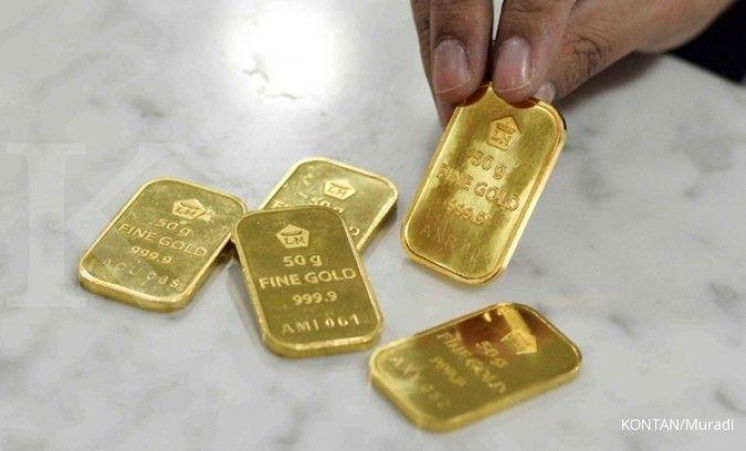 Mau beli emas Antam, tunggu harga turun lagi