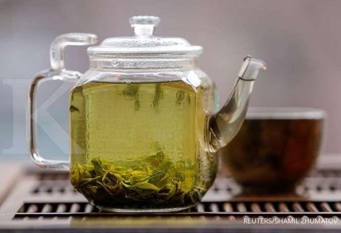 Salah satu cara menghilangkan jerawat batu adalah memakai teh hijau.