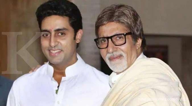 Amitabh Bachchan sembuh dari virus corona, Abhishek Bachchan masih positif